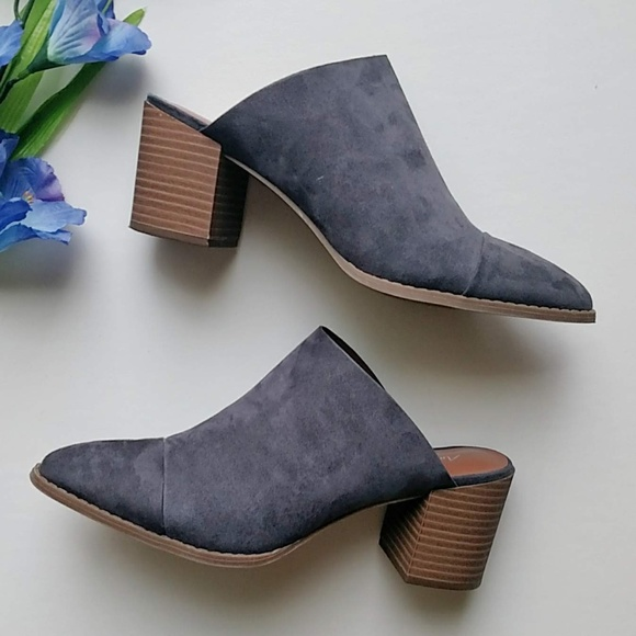 29abdc091ac American Eagle By Payless Shoes - Faux Suede Block Heel Pointed Toe Slip On  Mules